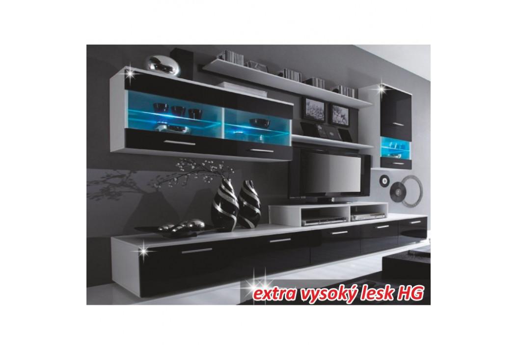 Tempo Kondela Obývací stěna LEO - bílá/černá