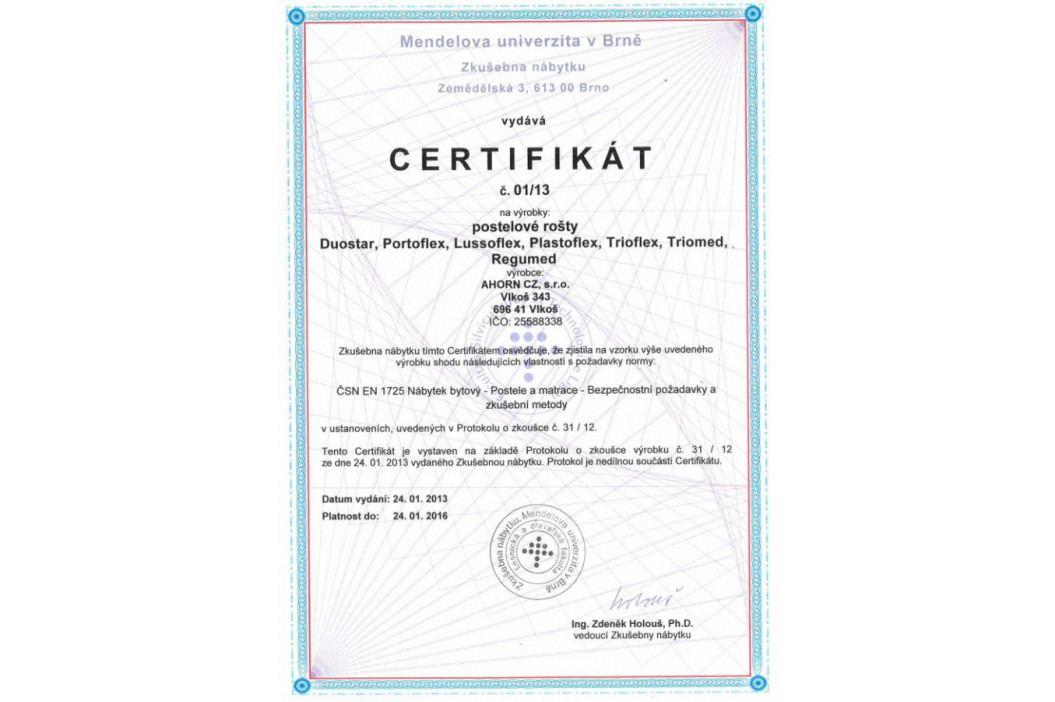 Ahorn Rošt Duostar HN P - polohovací 80x190