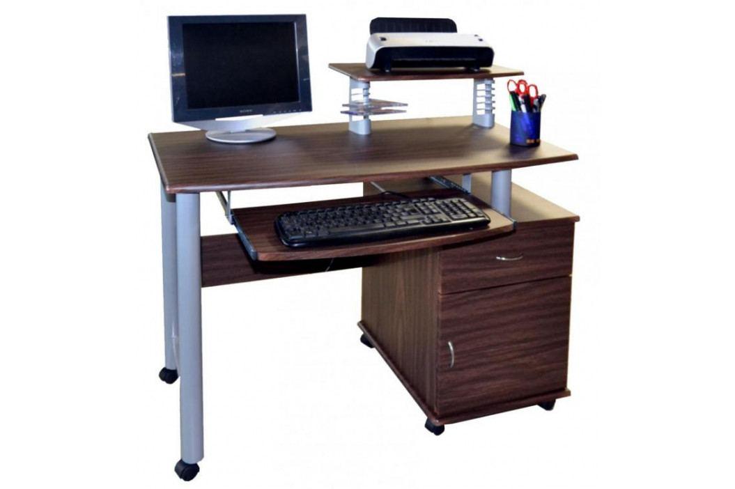 Falco PC stůl 2631 tmavý ořech