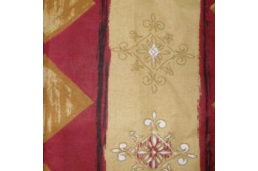 Axin Trading Ratanový papasan 110 cm koňak Polstr vínový motiv (vzor)