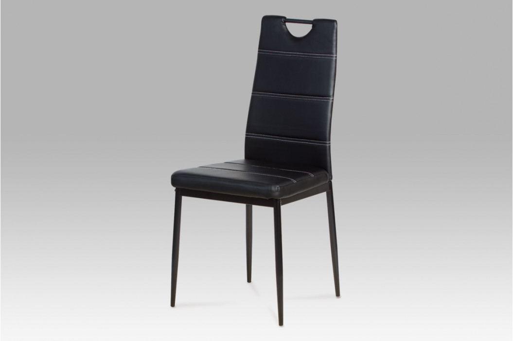 Autronic Jídelní židle AC-1220 BK - Černá koženka obrázek inspirace