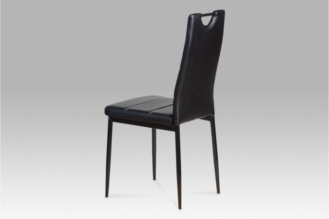 Autronic Jídelní židle AC-1220 BK - Černá koženka