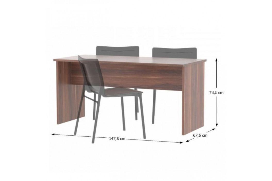 Tempo Kondela Kancelářský stůl oboustranný JOHAN NEW 08 - švestka