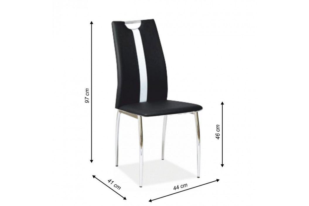 Tempo Kondela Židle SIGNA - černá / bílá ekokůže