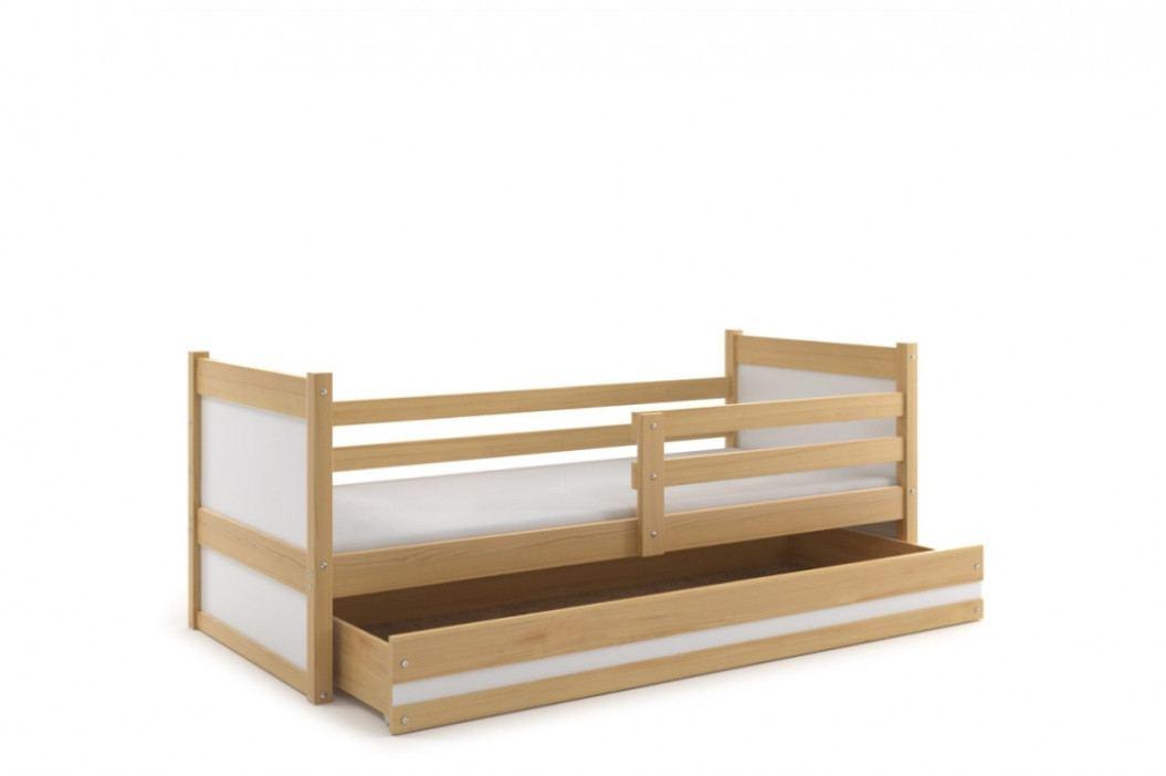 Falco Dětská postel Riky 90x200 - borovice/bílá