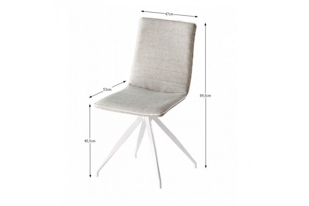 Tempo Kondela Židle Bahira - světlešedá / bílá