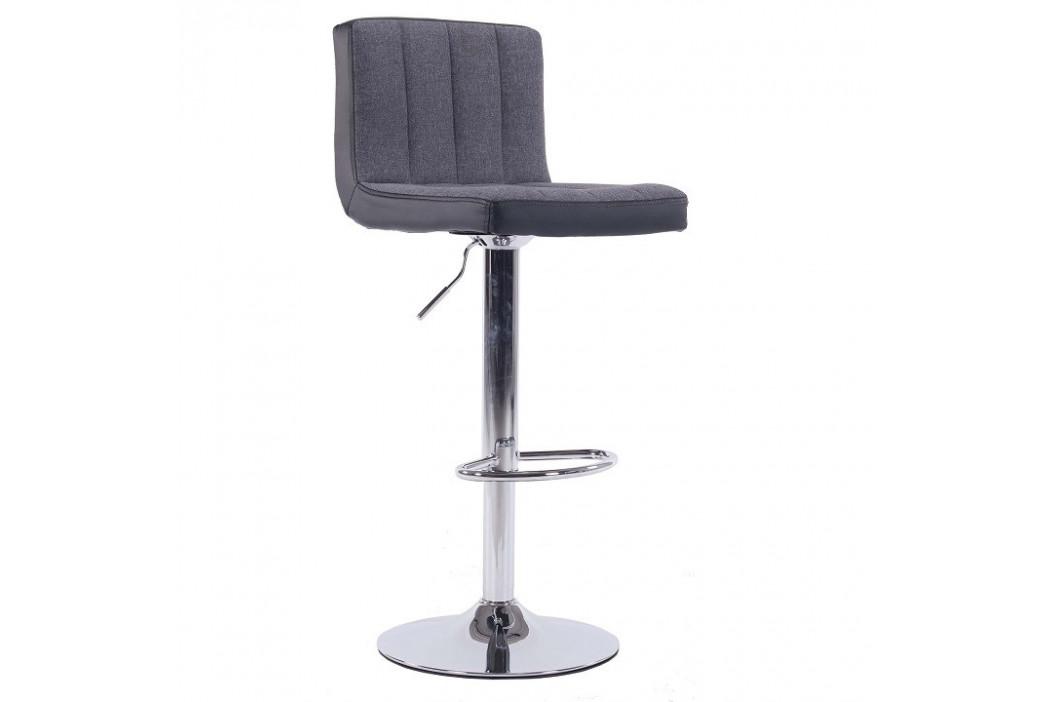 Tempo Kondela Barová židle HILDA - šedá / černá