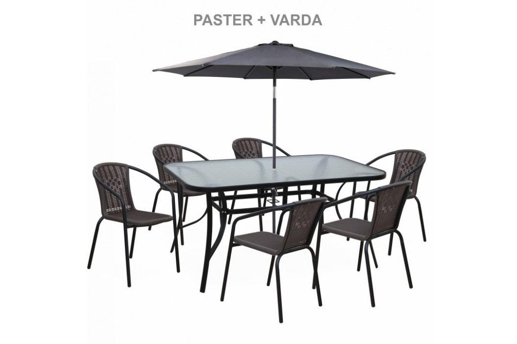 Tempo Kondela Židle VARDA - tmavě šedá / nohy černý kov