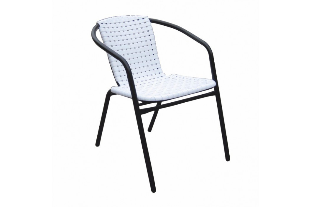 Tempo Kondela Zahradní židle BERGOLA - bílá / černá