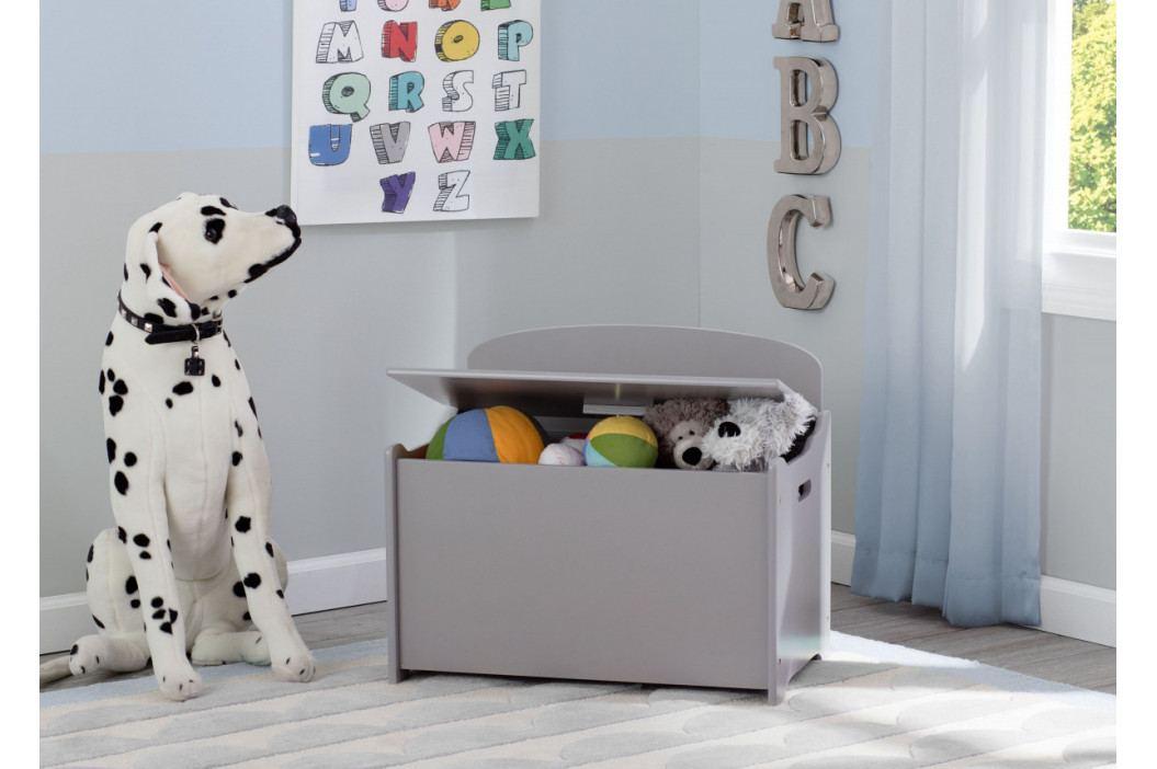 Forclaire Dřevěná truhla na hračky - šedá
