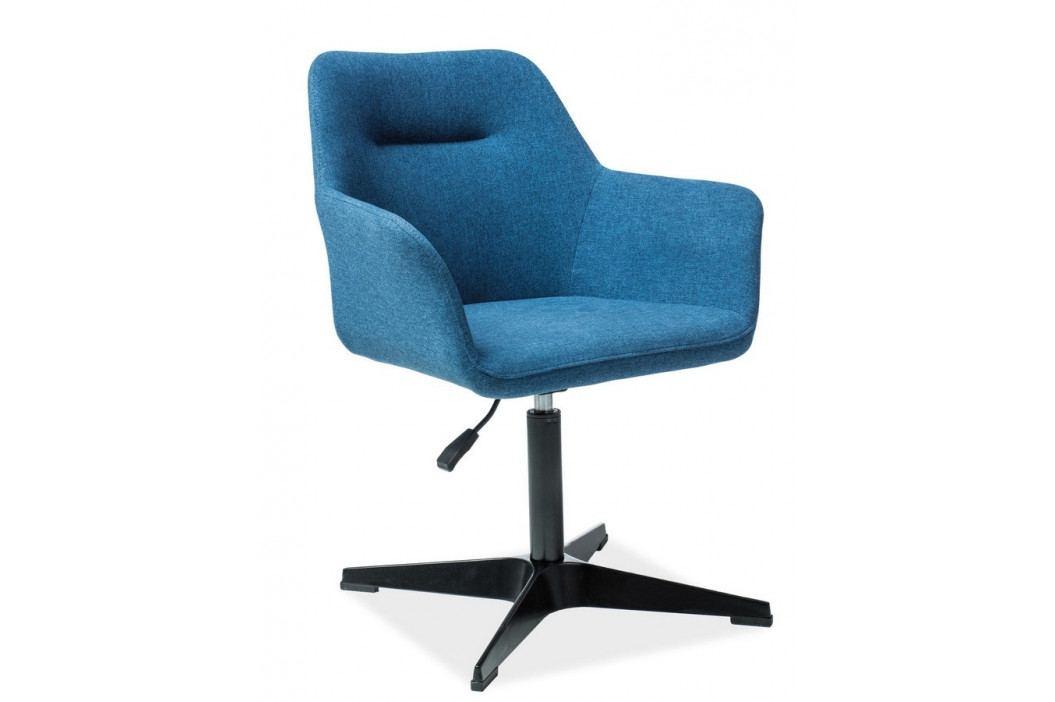 Casarredo Čalouněná židle KUBO modrá