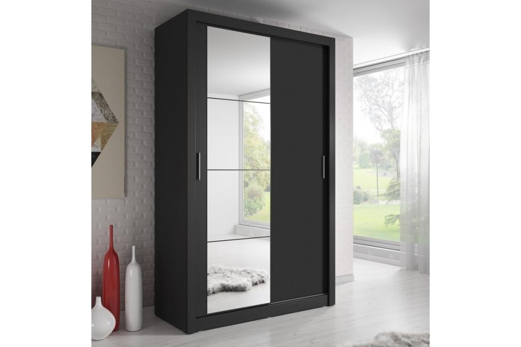 Casarredo Šatní skříň 06 ARTI 120 černá zrcadlo