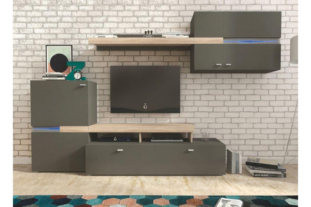 Casarredo Obývací stěna JET grafit/sonoma