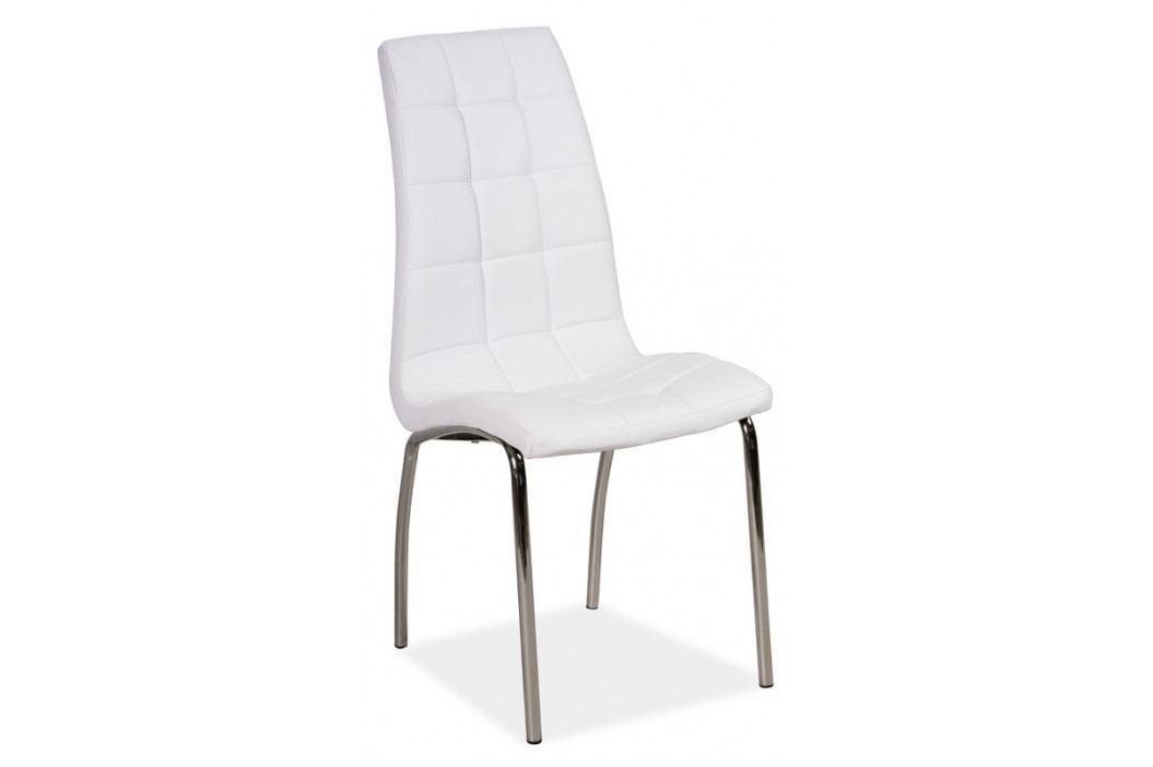 Casarredo Jídelní čalouněná židle H-104 bílá