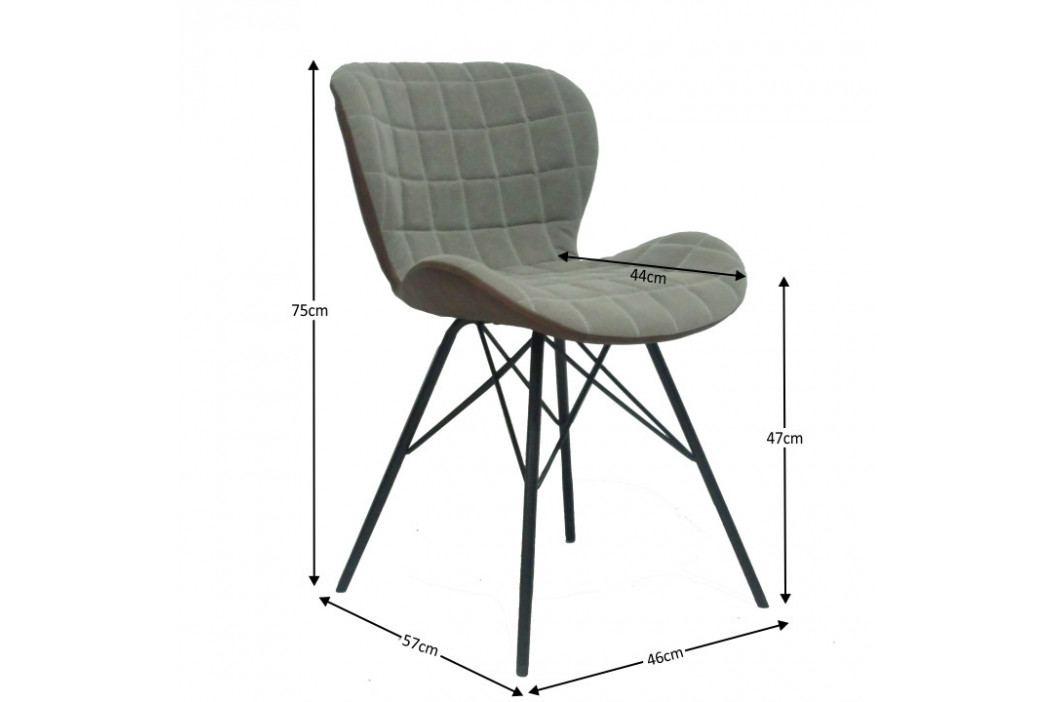 Tempo Kondela Židle LORANA - béžová / hnědá