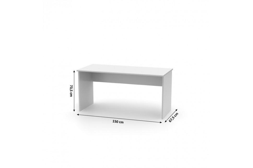 Tempo Kondela Psací stůl, bílá, JOHAN NEW 01