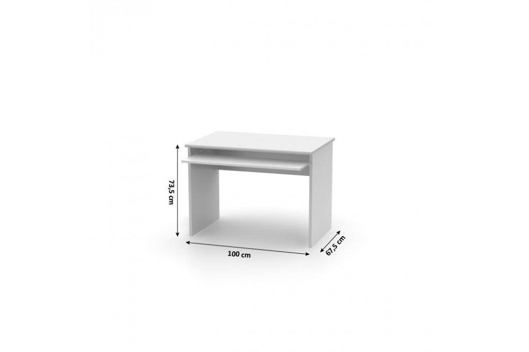 Tempo Kondela Psací stůl, bílá, JOHAN NEW 02