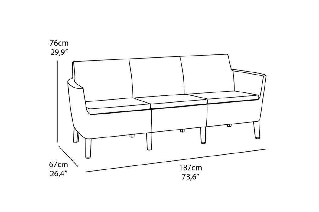 Rojaplast Set SALEMO 3 seater - grafit