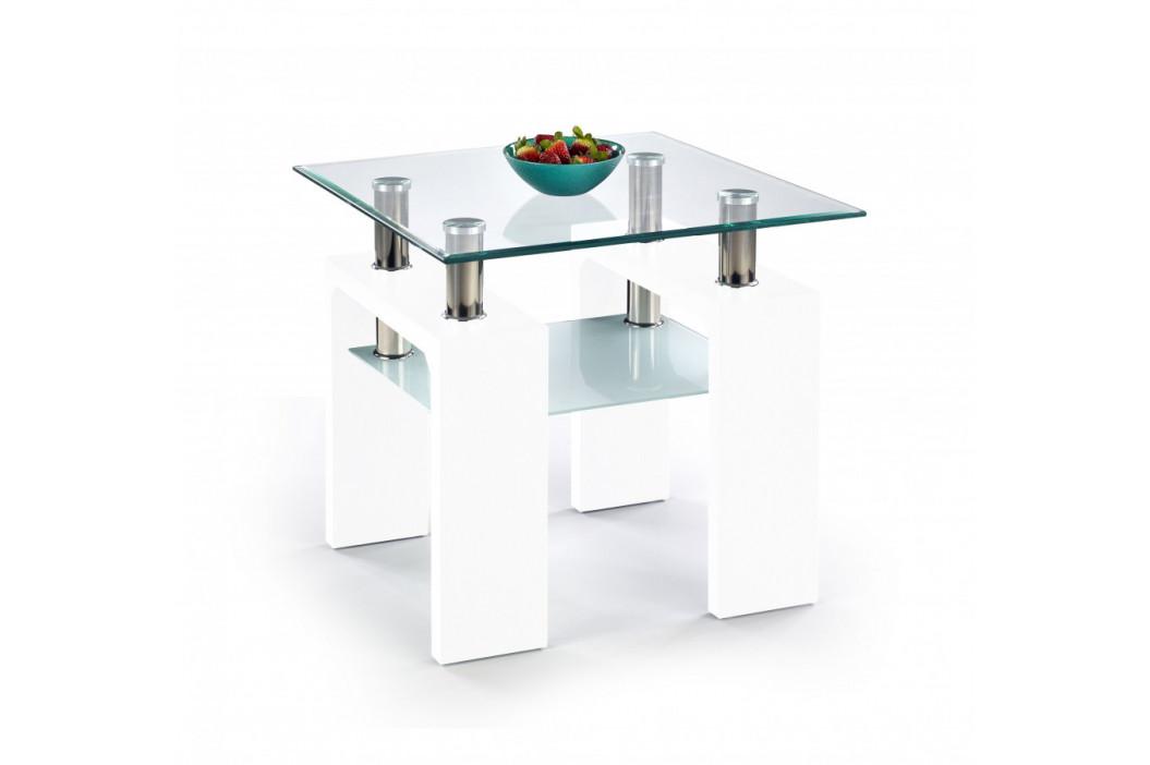 Halmar Konferenční stolek Diana H kwadrat, bílý lak