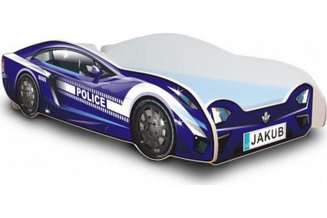 Forclaire Dětská postel - Policejní auto