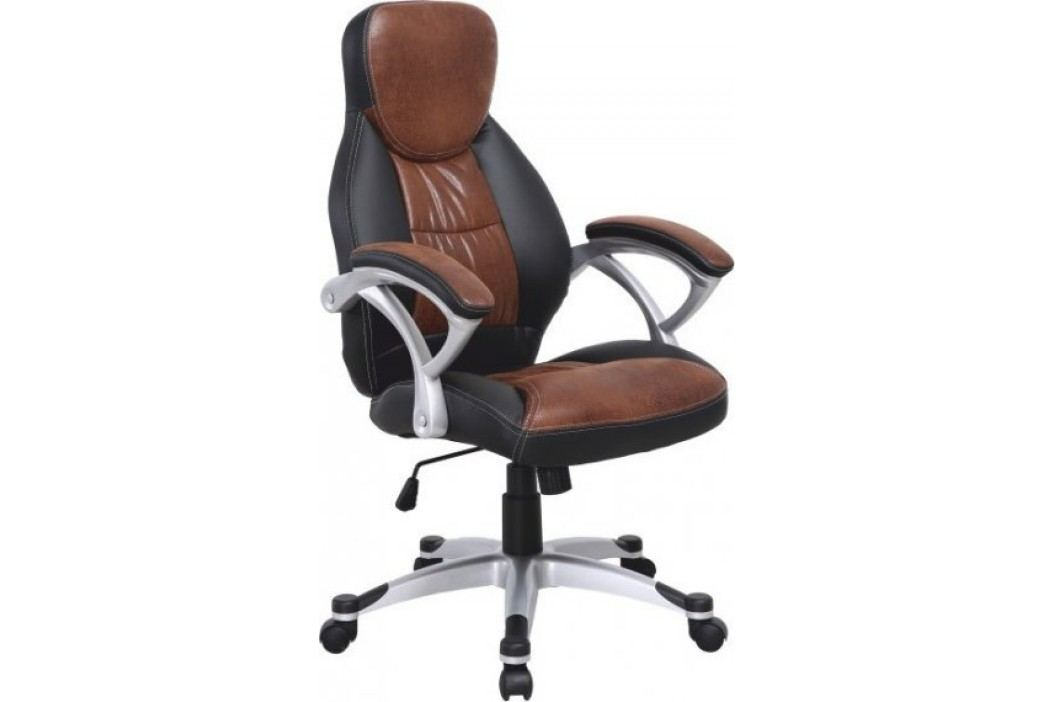 Tempo Kondela Kancelářská židle ICARUS - hnědá ekokůže + černá / plast,