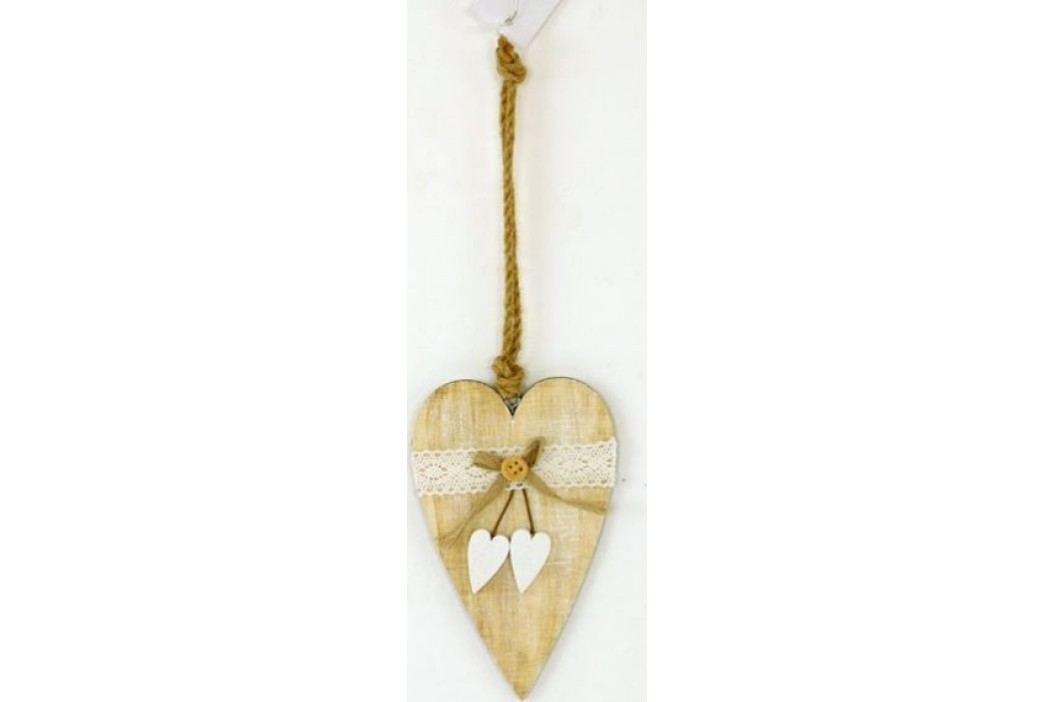 Dřevěné srdce KLA296