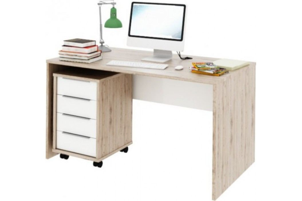Tempo Kondela PC stůl Rioma TYP 11 - san remo / bílá