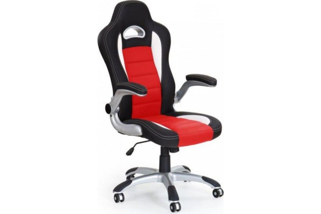 Kancelářské křeslo Lotus Černá/červená/bílá + kupón KONDELA10 na okamžitou slevu 10% (kupón uplatníte v košíku)