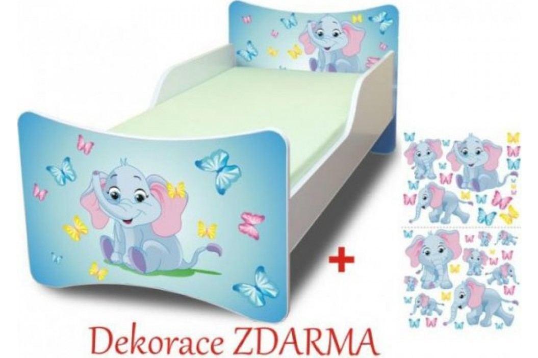 Forclaire Dětská postel Sloník postel s úložným prostorem 200x90cm + kupón KONDELA10 na okamžitou slevu 10% (kupón uplatníte v košíku)