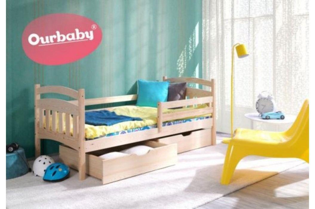 Forclaire Ourbaby dětská postel Marco - přírodní borovice 200x90 + kupón KONDELA10 na okamžitou slevu 10% (kupón uplatníte v košíku)