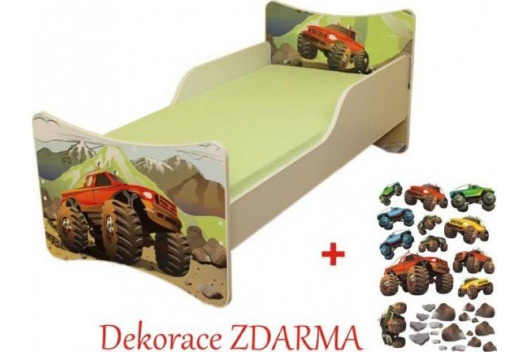 Forclaire Dětská postel Auto postel s úložným prostorem 200x90cm + kupón KONDELA10 na okamžitou slevu 10% (kupón uplatníte v košíku)