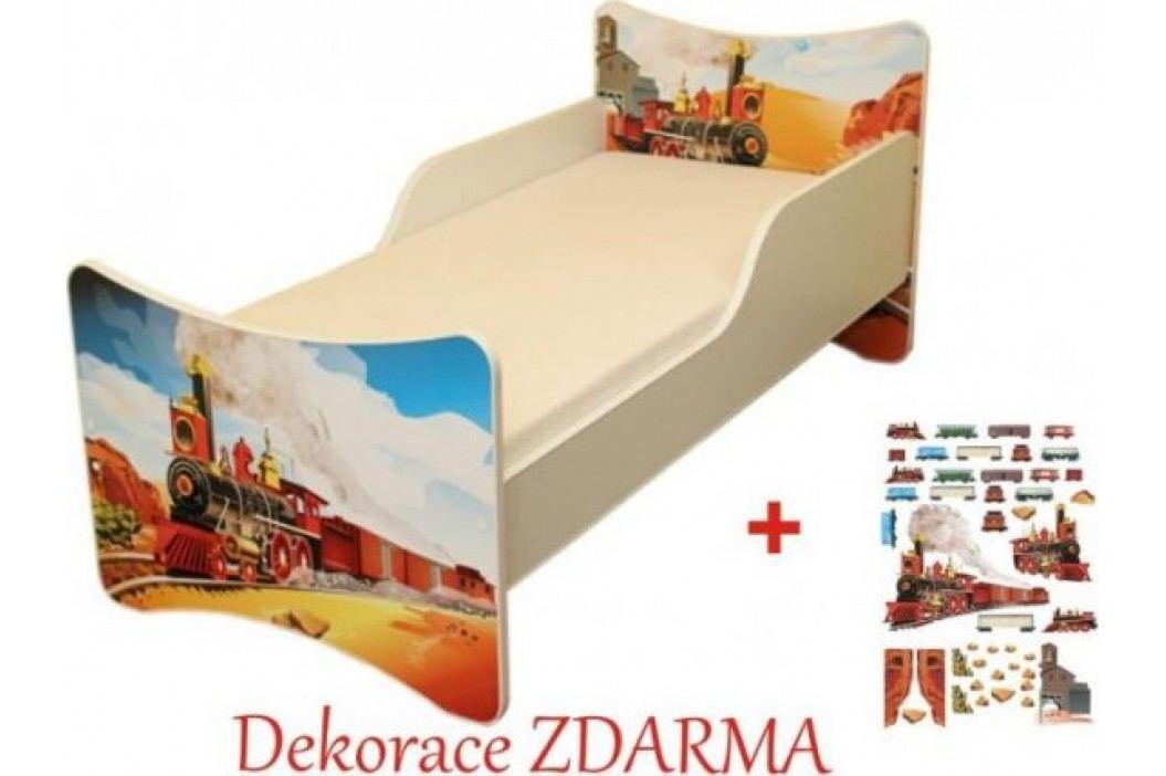 Forclaire Dětska postel Vláček postel s úložným prostorem 200x90cm + kupón KONDELA10 na okamžitou slevu 10% (kupón uplatníte v košíku)