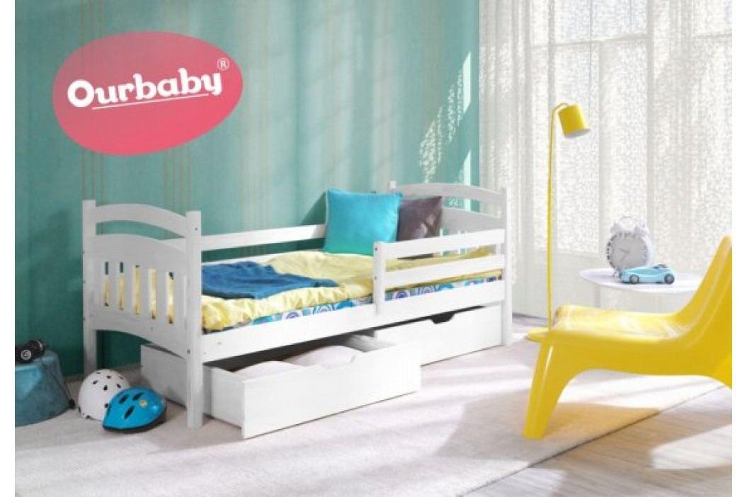 Forclaire Ourbaby dětská postel Marco - Bílá 200x90 Marco + kupón KONDELA10 na okamžitou slevu 10% (kupón uplatníte v košíku)