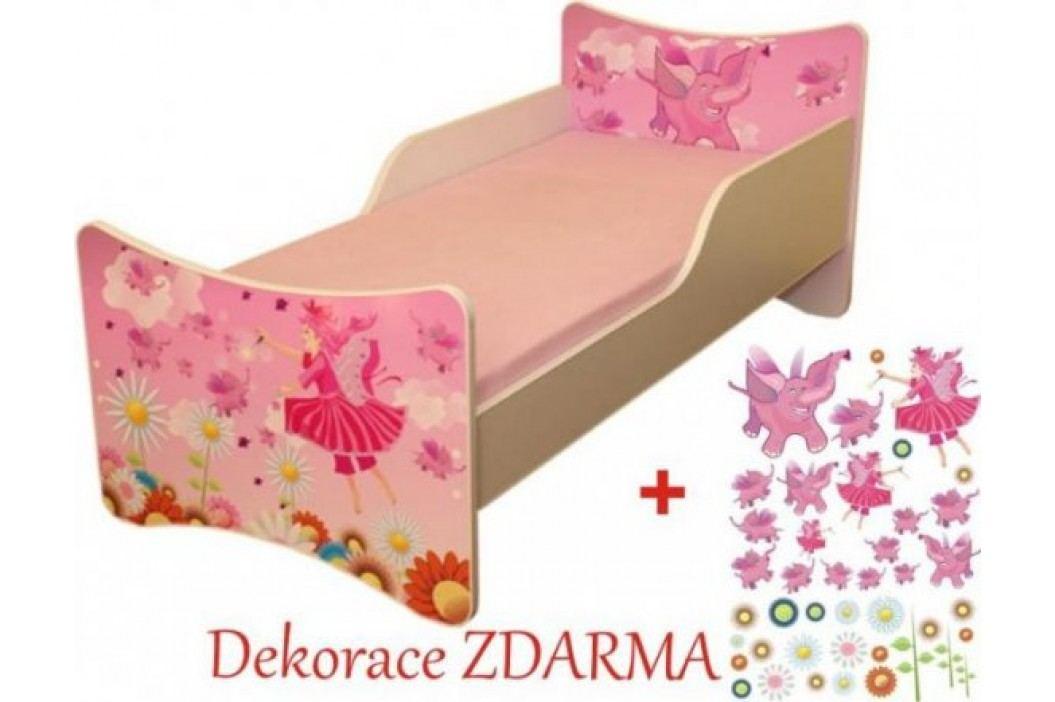Forclaire Dětská postel Víly postel s úložným prostorem 200x90 + kupón KONDELA10 na okamžitou slevu 10% (kupón uplatníte v košíku)