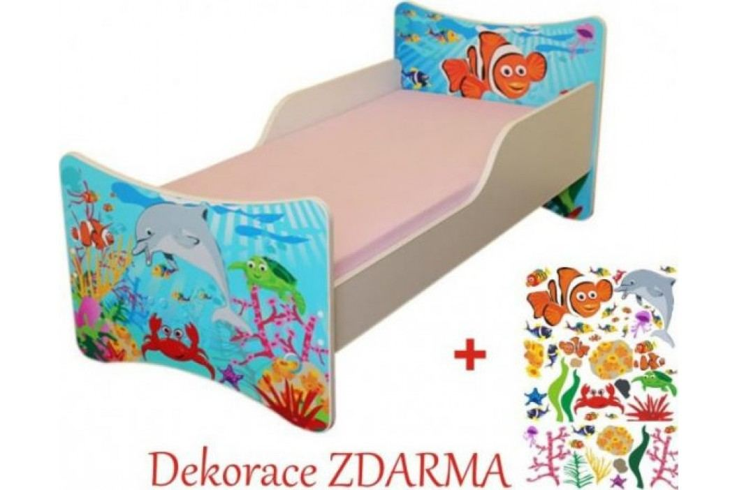 Forclaire Dětská postel Oceán postel  200x90 + kupón KONDELA10 na okamžitou slevu 10% (kupón uplatníte v košíku)