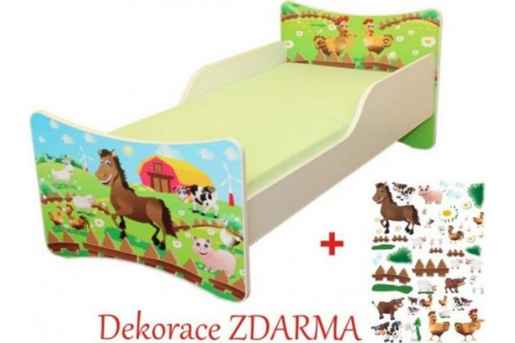 Forclaire Dětská postel Farma postel s úložným prostorem 200x90cm + kupón KONDELA10 na okamžitou slevu 10% (kupón uplatníte v košíku)