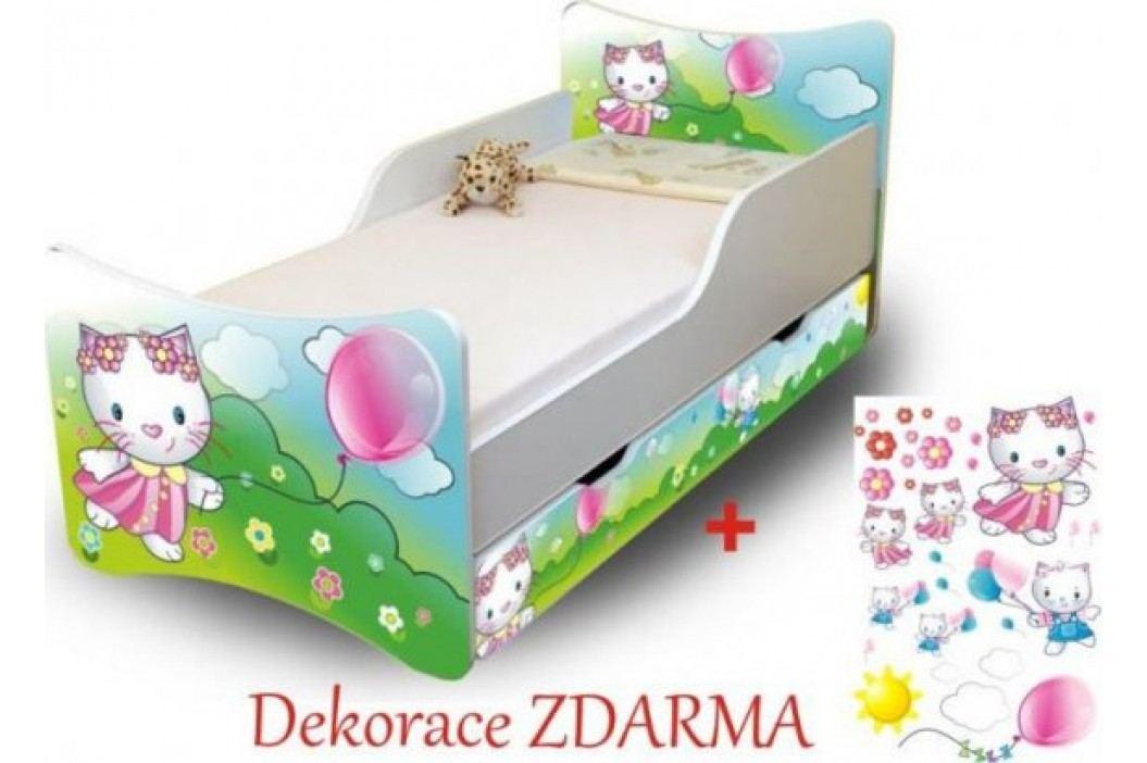 Forclaire Dětská postel Kočička 200x90 s úložným prostorem + kupón KONDELA10 na okamžitou slevu 10% (kupón uplatníte v košíku)
