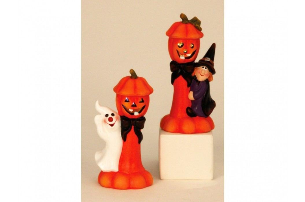 Halloween dekorace sošky dýně s LED 21cm mix
