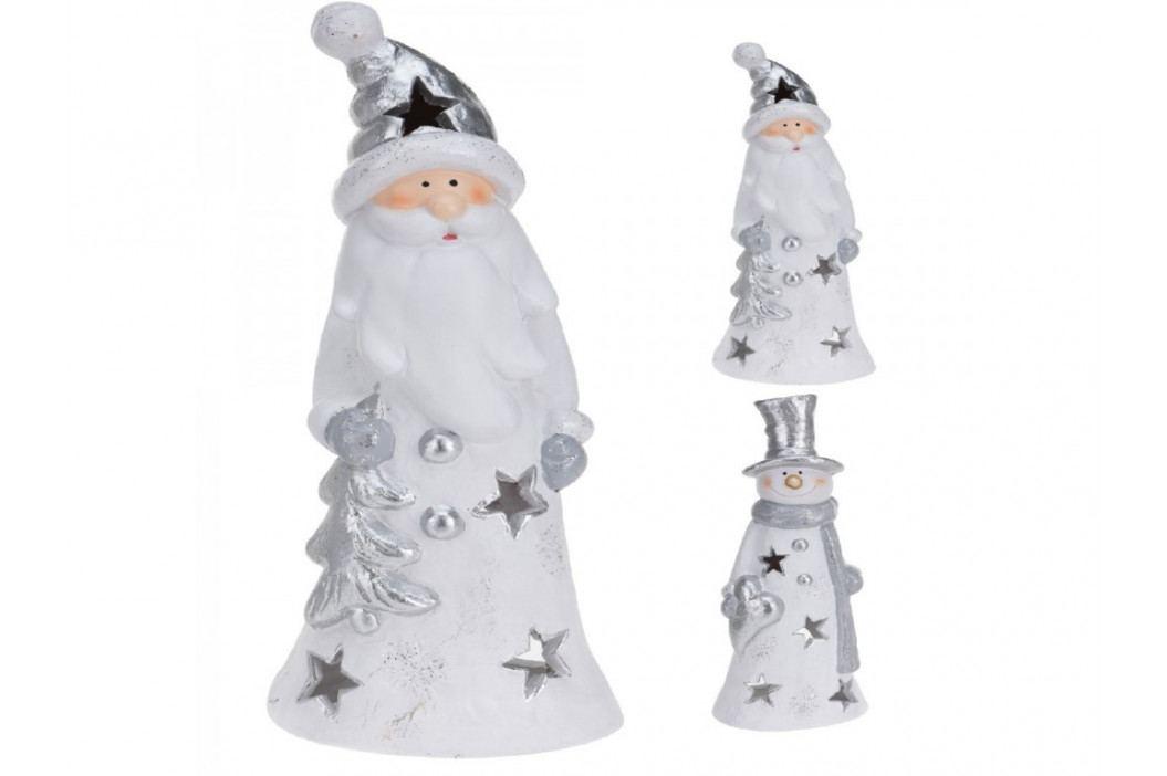 Santa/Sněhulák +svícen xxcm