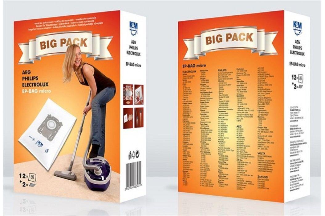 Sáčky do vysavače BIG PACK EP-BAG micro 12 + 2