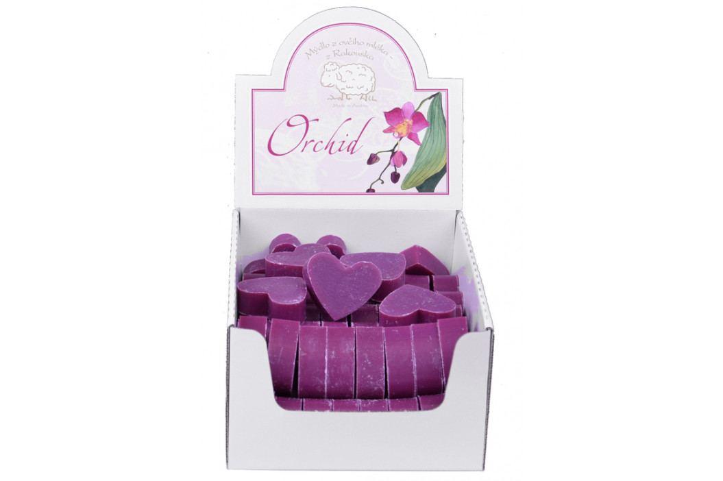 Florex Mýdlo z ovčího mléka   61ks malé srdce   orchidej EDZFL-7222OD-K