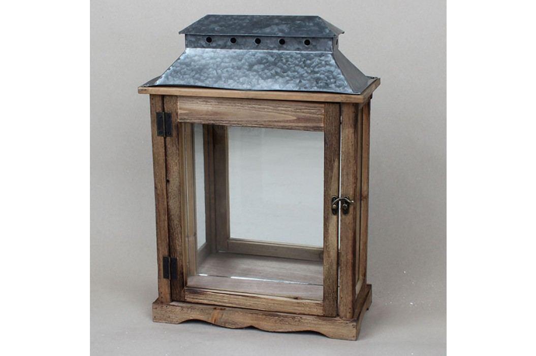 Dřevěná lucerna na zeď 31,5×45×15 cm
