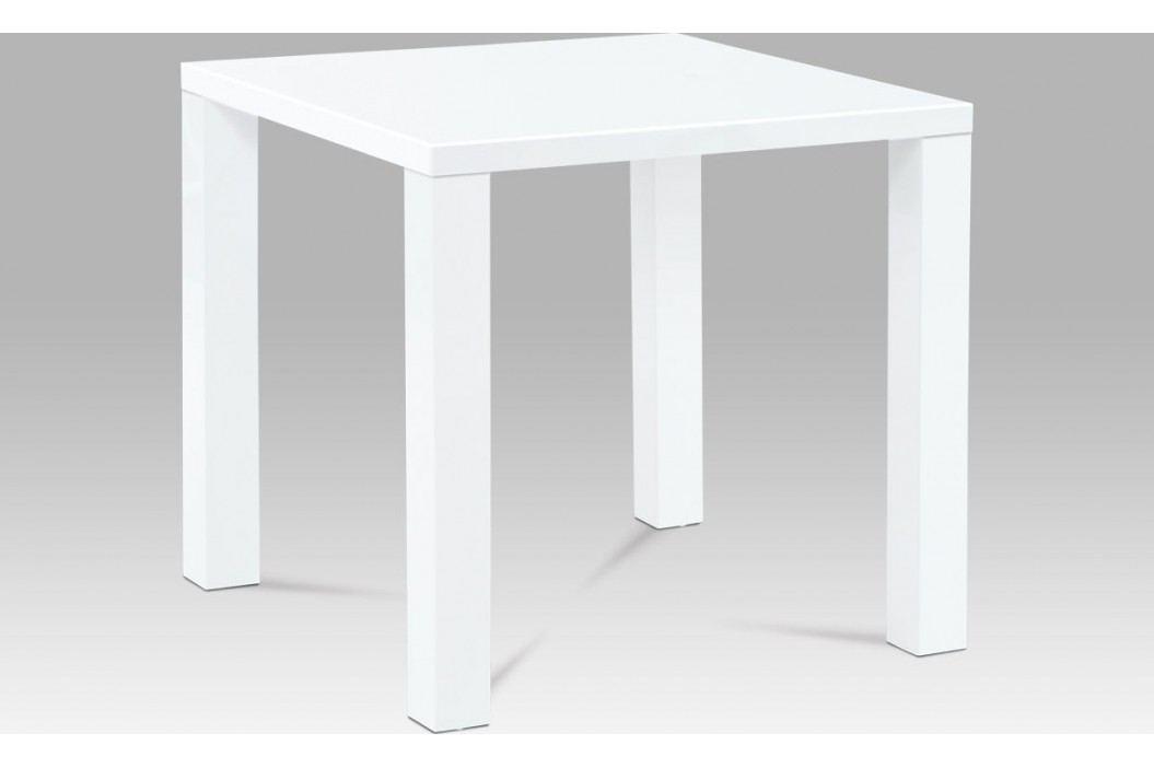 Autronic Jídelní stůl 80x80x76 cm, vysoký lesk bílý AUAT-3005 WT obrázek inspirace