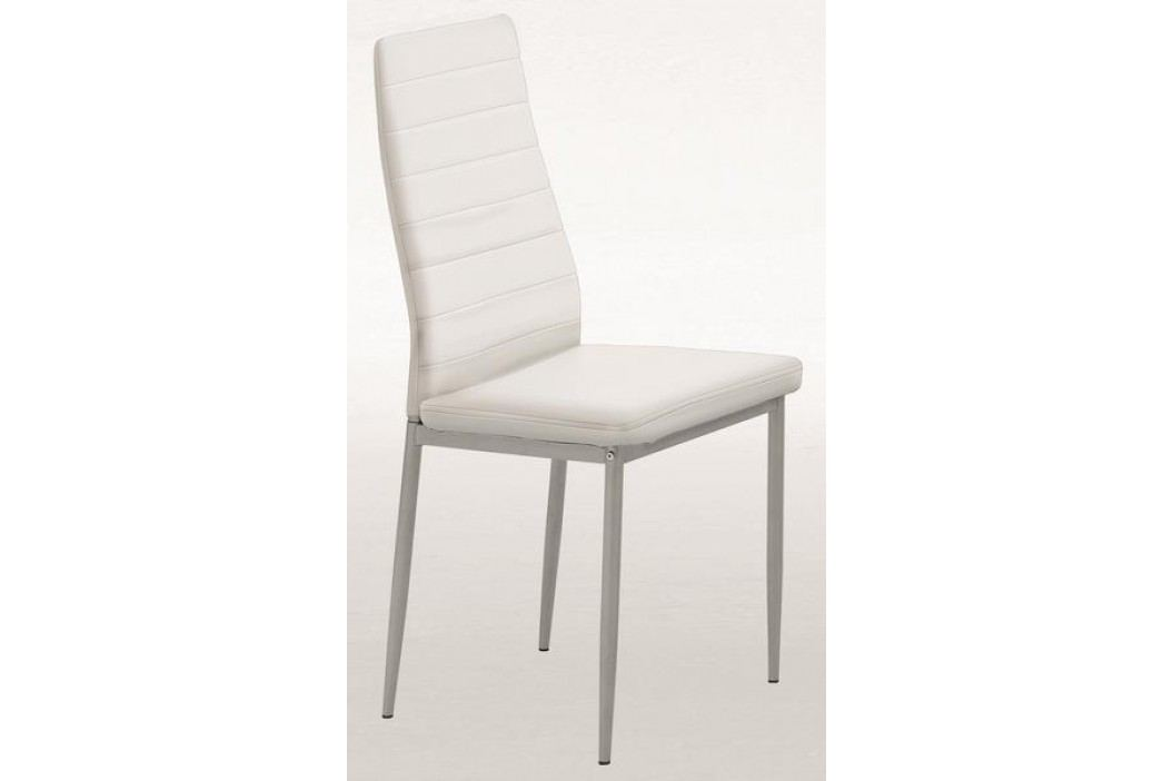 Levná bílá jídelní židle SIMONE S