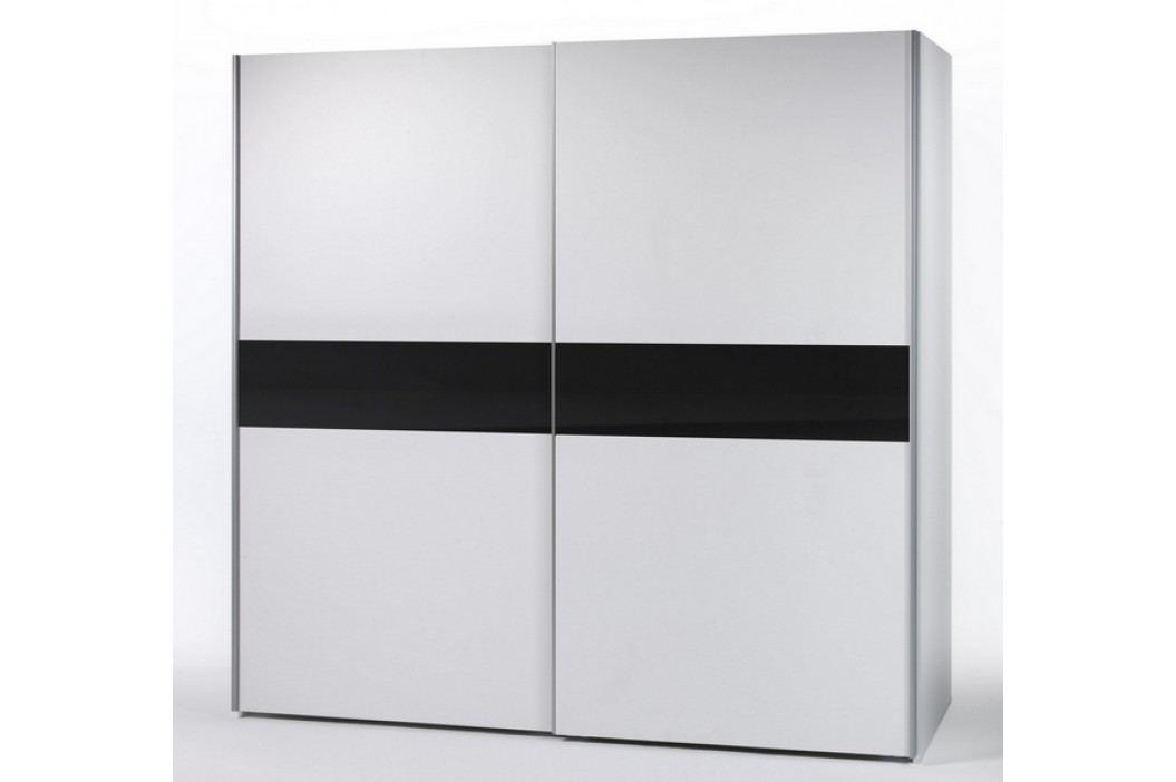 Bílá šatní skříň s posuvnými dveřmi VICTOR 4