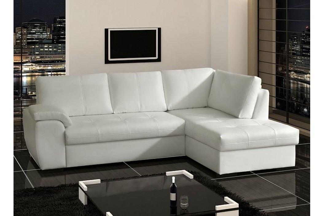 Elegantní bílá sedací souprava TOKIO 2,5F-OTM ekokůže