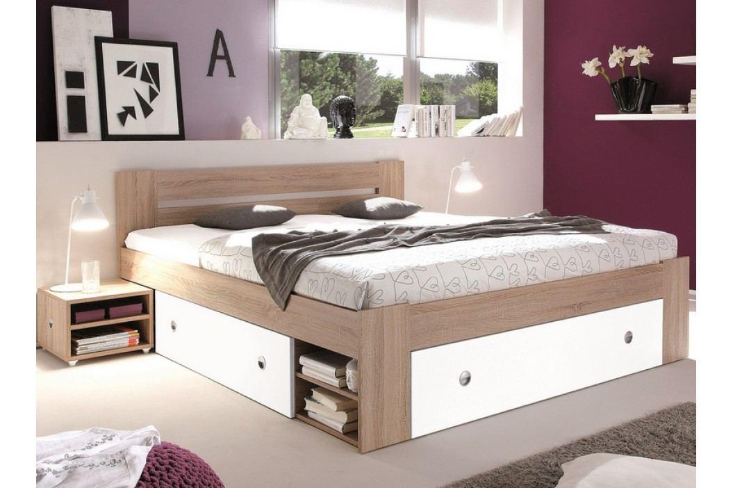 Praktická manželská postel STEFAN 140x200 s úložným prostorem