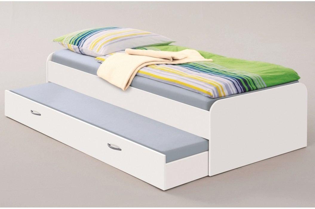 Praktická jednolůžková postel PEDRO 90x200 výsuvné lůžko