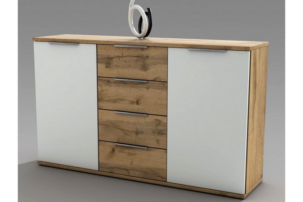 Hnědá komoda CAPRI 38-230-H2 dřevěná