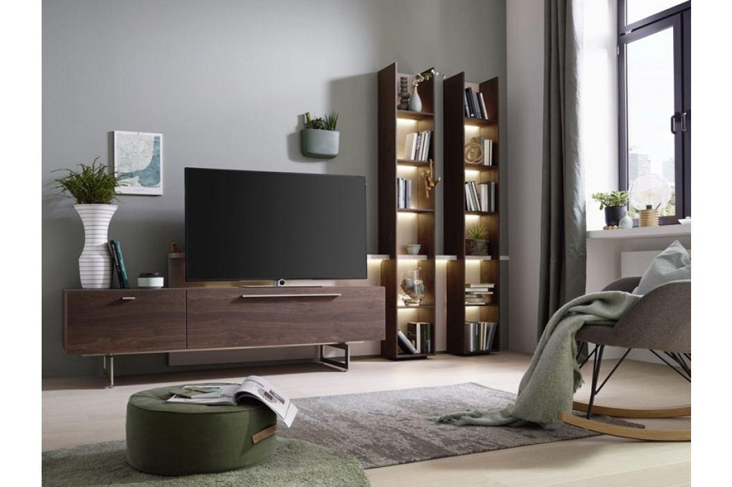 Obývací stěna LAREDO dub přírodní tmavý/lak cashmere